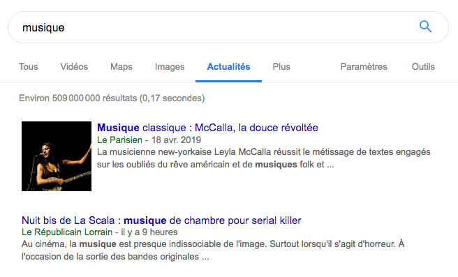 www google actualites