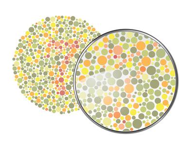 vision d'un daltonien