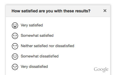 satisfaction google